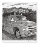 Seagrave Gmc Firetruck Fleece Blanket
