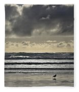 Seagull At Cannon Beach Fleece Blanket