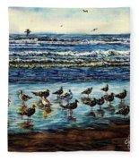 Seagull Get-together Fleece Blanket