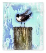 Seagull - Laughing Gull Pop Art  Fleece Blanket