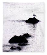 Seagull Waiting Fleece Blanket
