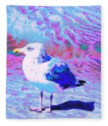 Cool And Colorful Gull Fleece Blanket