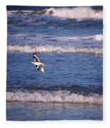 Seagulls Above The Seashore Fleece Blanket