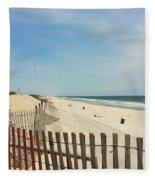 Seagulls Beach Fleece Blanket