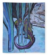 Seahorse Anchored Fleece Blanket