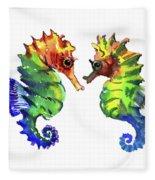 Seahorse Love Fleece Blanket