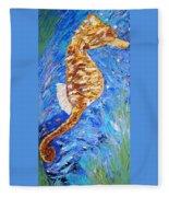 Seahorse Number 1 Fleece Blanket