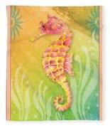 Seahorse Pink Fleece Blanket