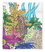 Seahorse Sanctuary  Fleece Blanket