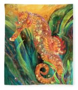 Seahorse - Spirit Of Contentment Fleece Blanket
