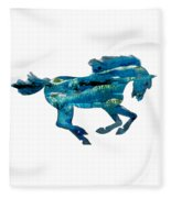 Seahorse By V.kelly Fleece Blanket