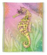 Seahorse Violet Fleece Blanket