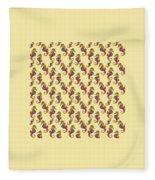 Seahorse Watercolor Art Fleece Blanket