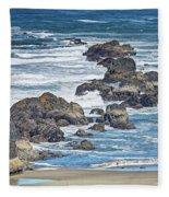 Seal Rock Seascape Fleece Blanket
