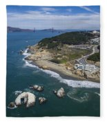 Seal Rocks At The Cliff House Fleece Blanket
