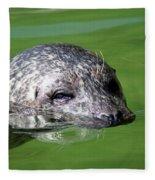 Seal Swimming Portrait Wildlife Scene Fleece Blanket