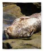 Sealed With A Smile Fleece Blanket