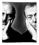 Sean Connery And Michael Caine Fleece Blanket