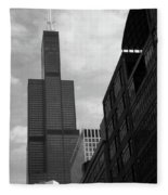 Sears Tower B-w Fleece Blanket