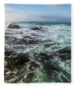 Seas Of The Wild West Coast Of Tasmania Fleece Blanket