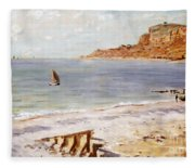 Seascape At Sainte Adresse  Fleece Blanket