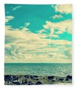 Seascape Cloudscape Instagramlike Fleece Blanket