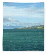 Seascape In Iceland On Summer  Fleece Blanket