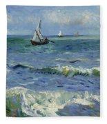 Seascape Near Les Saintes Maries De La Mer Arles June 1888 Vincent Van Gogh 1853  1890 Fleece Blanket