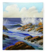 Seascape Study 2 Fleece Blanket