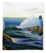 Seascape Study 3 Fleece Blanket
