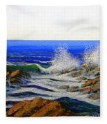 Seascape Study 4 Fleece Blanket
