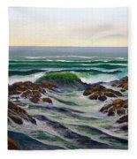 Seascape Study 6 Fleece Blanket
