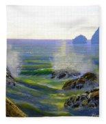 Seascape Study 7 Fleece Blanket