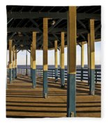 Seascape Walk On The Pier Fleece Blanket