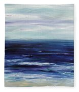 Seascape With White Cats Fleece Blanket