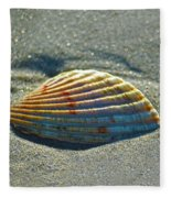Seashell After The Wave Square Fleece Blanket