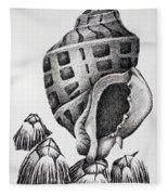 Seashell And Barnacles Fleece Blanket