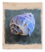 Seashell IIi Grunge With Border Fleece Blanket