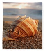 Seashell In The Sand Fleece Blanket