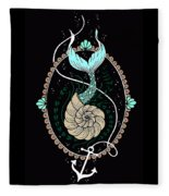 Seashell Mermaid Fleece Blanket