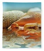Seashell Reflections On Water Fleece Blanket