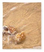 Seashell Turbulence Fleece Blanket