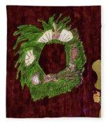 Seashell Wreathe Fleece Blanket