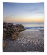 Seashells At The Seashore Fleece Blanket