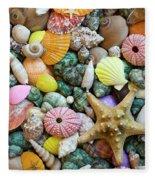 Seashells 3 Fleece Blanket