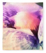 Seashells Painted  Fleece Blanket