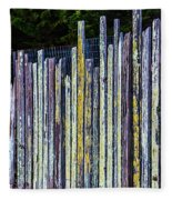 Seashore Fence Fleece Blanket