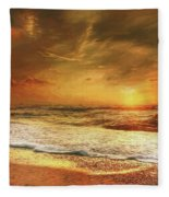 Seashore Sunset Fleece Blanket