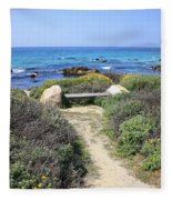 Seaside Bench Fleece Blanket