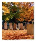 Seaside Cemetery Fleece Blanket